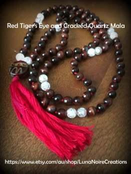 1 red tiger eye mala